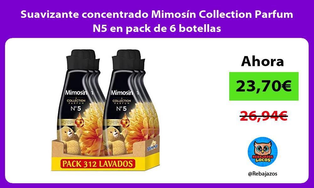 Suavizante concentrado Mimosin Collection Parfum N5 en pack de 6 botellas