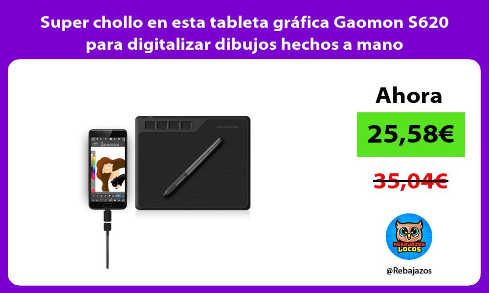 Super chollo en esta tableta grafica Gaomon S620 para digitalizar dibujos hechos a mano