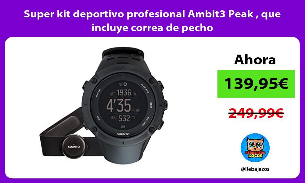 Super kit deportivo profesional Ambit3 Peak que incluye correa de pecho