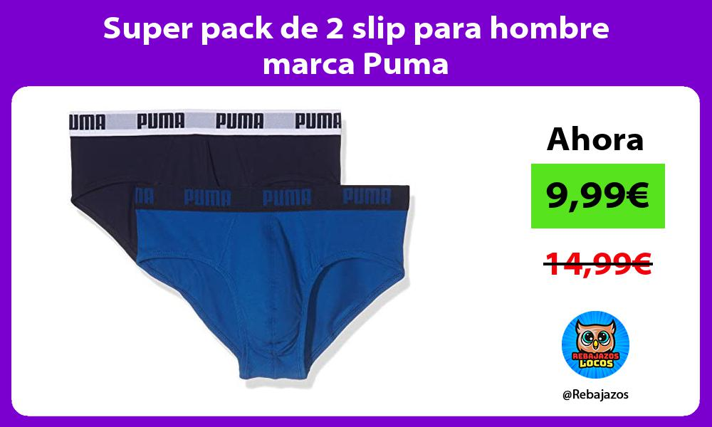 Super pack de 2 slip para hombre marca Puma