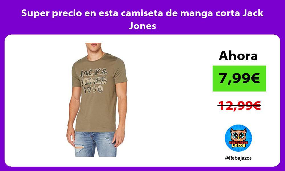Super precio en esta camiseta de manga corta Jack Jones