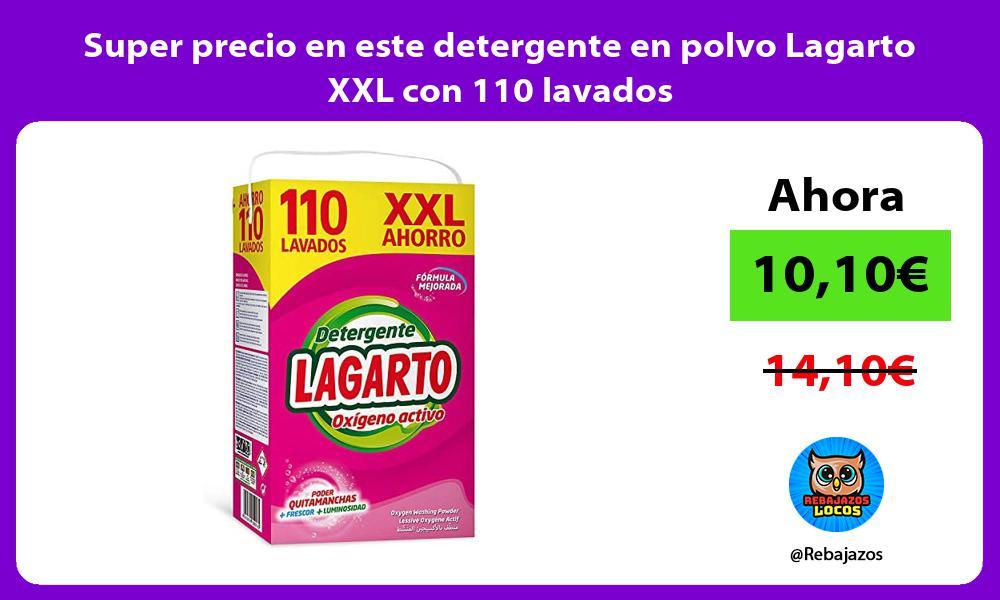 Super precio en este detergente en polvo Lagarto XXL con 110 lavados