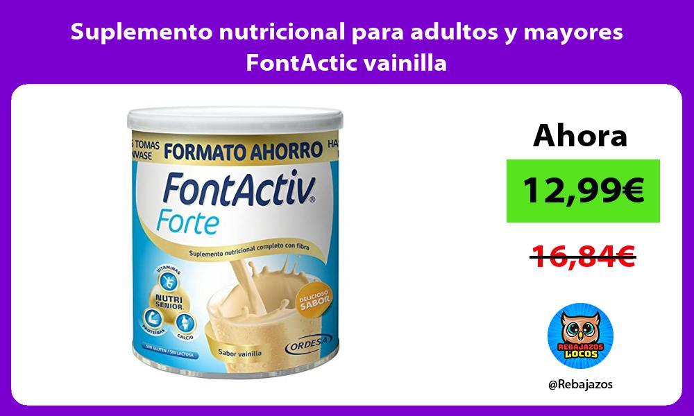 Suplemento nutricional para adultos y mayores FontActic vainilla