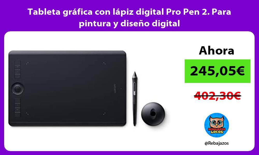 Tableta grafica con lapiz digital Pro Pen 2 Para pintura y diseno digital