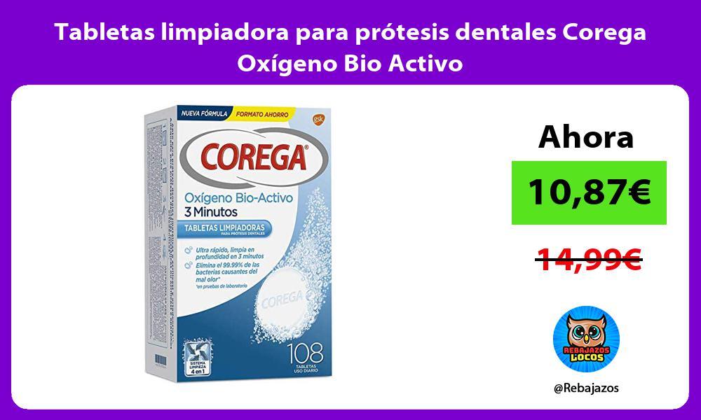 Tabletas limpiadora para protesis dentales Corega Oxigeno Bio Activo