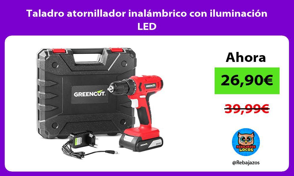 Taladro atornillador inalambrico con iluminacion LED
