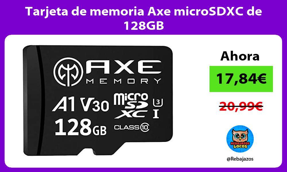 Tarjeta de memoria Axe microSDXC de 128GB