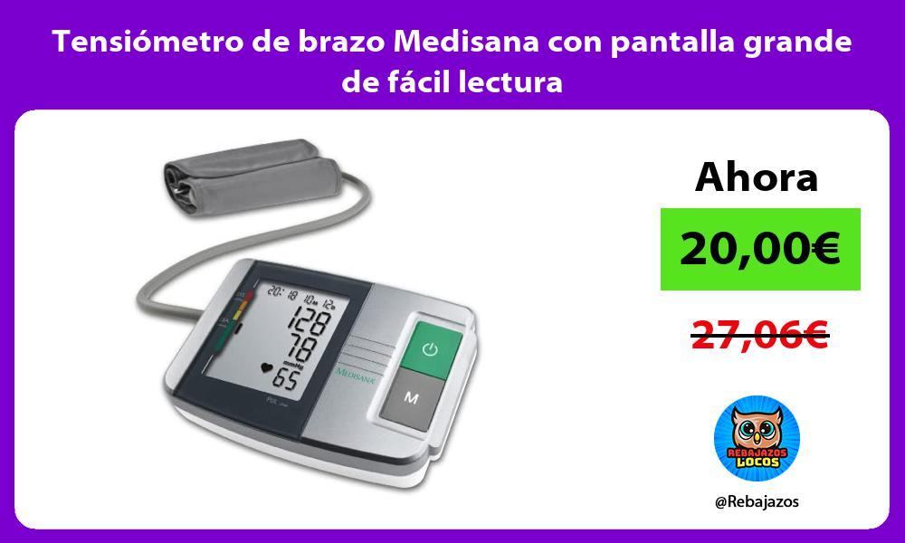 Tensiometro de brazo Medisana con pantalla grande de facil lectura