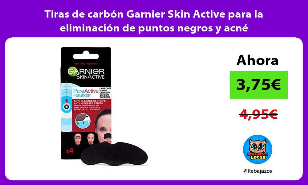 Tiras de carbon Garnier Skin Active para la eliminacion de puntos negros y acne