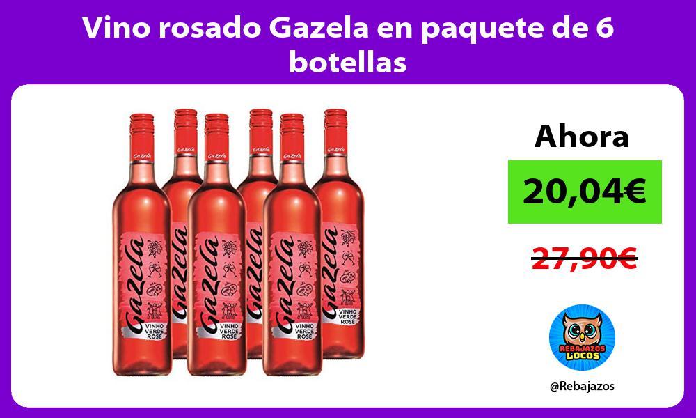 Vino rosado Gazela en paquete de 6 botellas