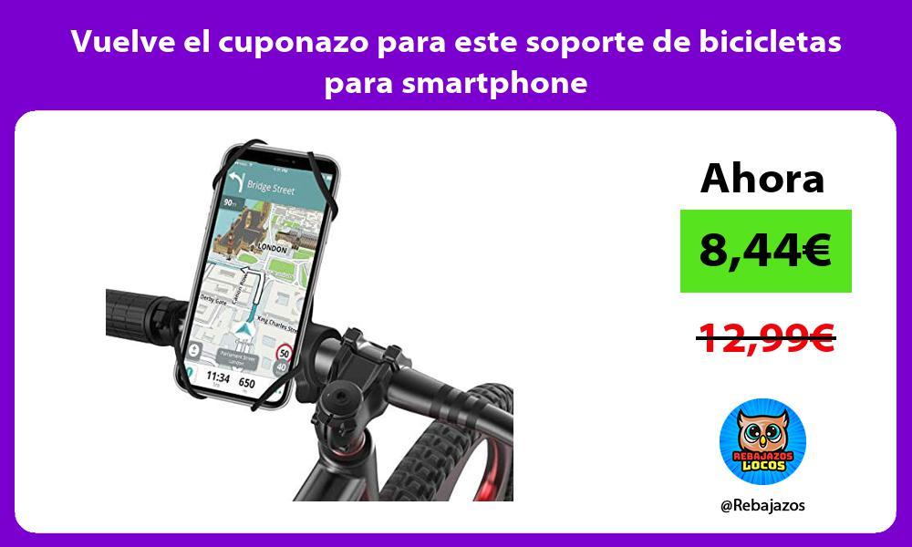 Vuelve el cuponazo para este soporte de bicicletas para smartphone