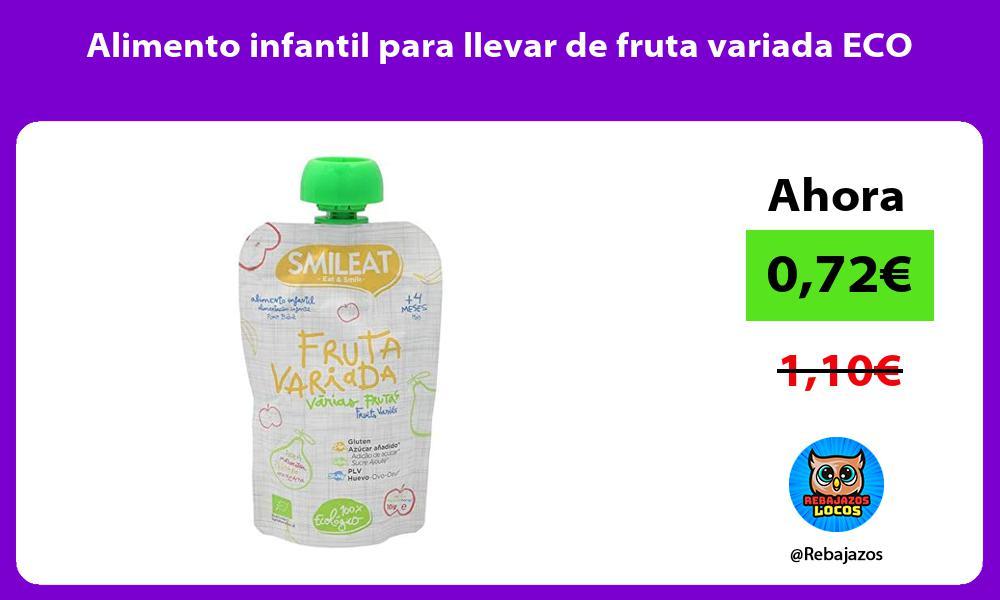 Alimento infantil para llevar de fruta variada ECO
