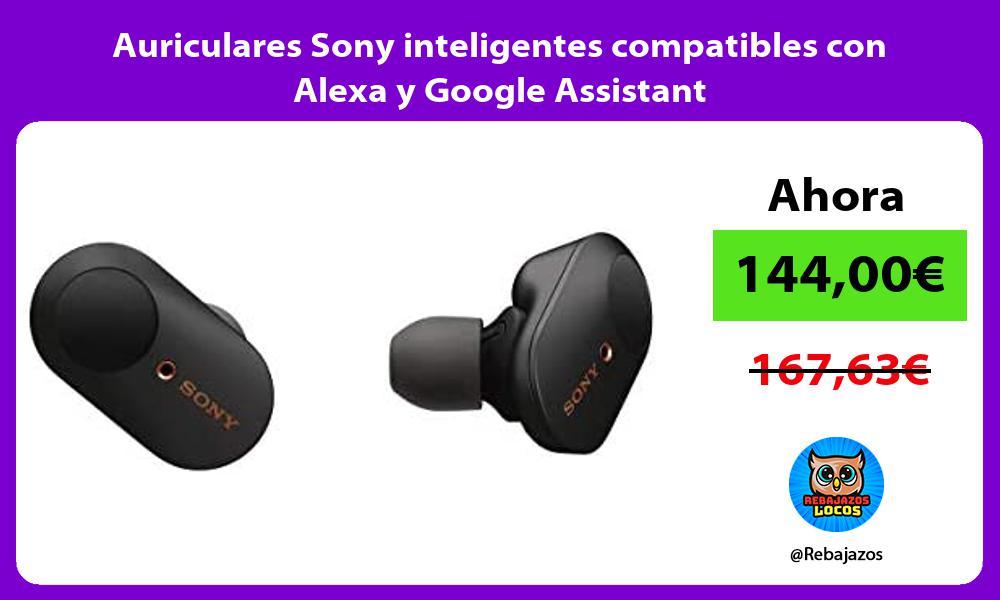 Auriculares Sony inteligentes compatibles con Alexa y Google Assistant