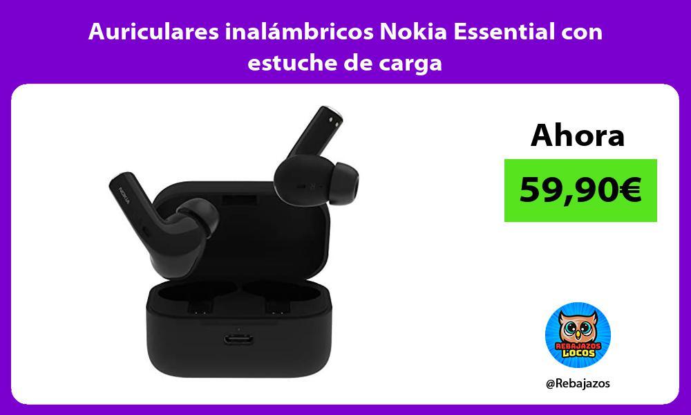 Auriculares inalambricos Nokia Essential con estuche de carga