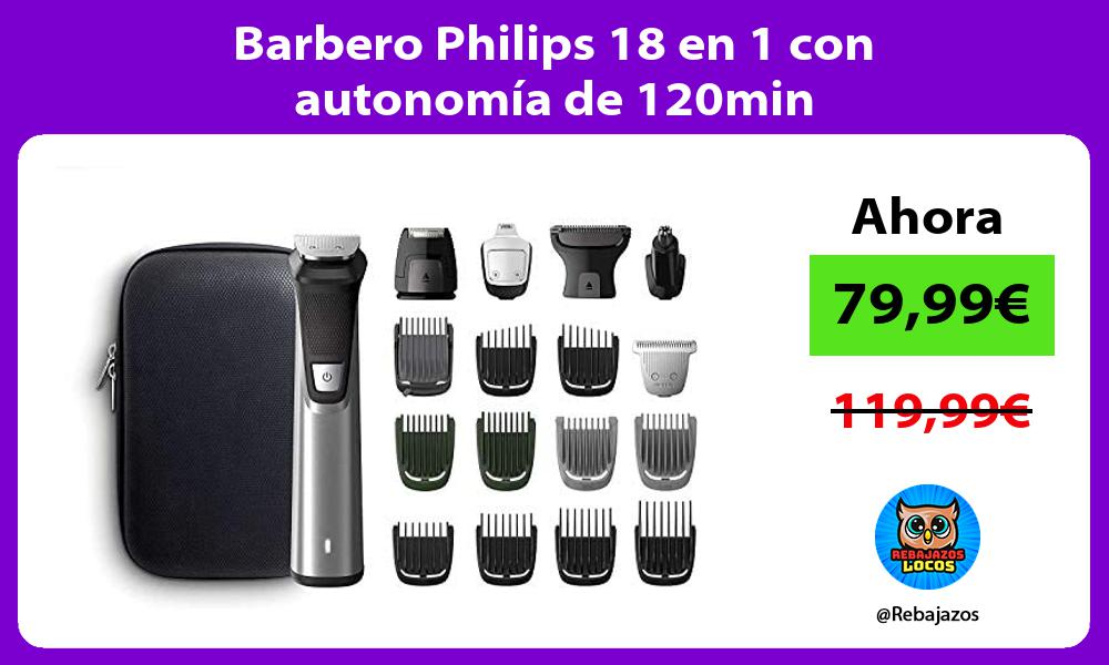 Barbero Philips 18 en 1 con autonomia de 120min