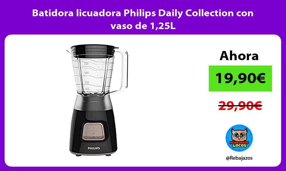 Batidora licuadora Philips Daily Collection con vaso de 125L