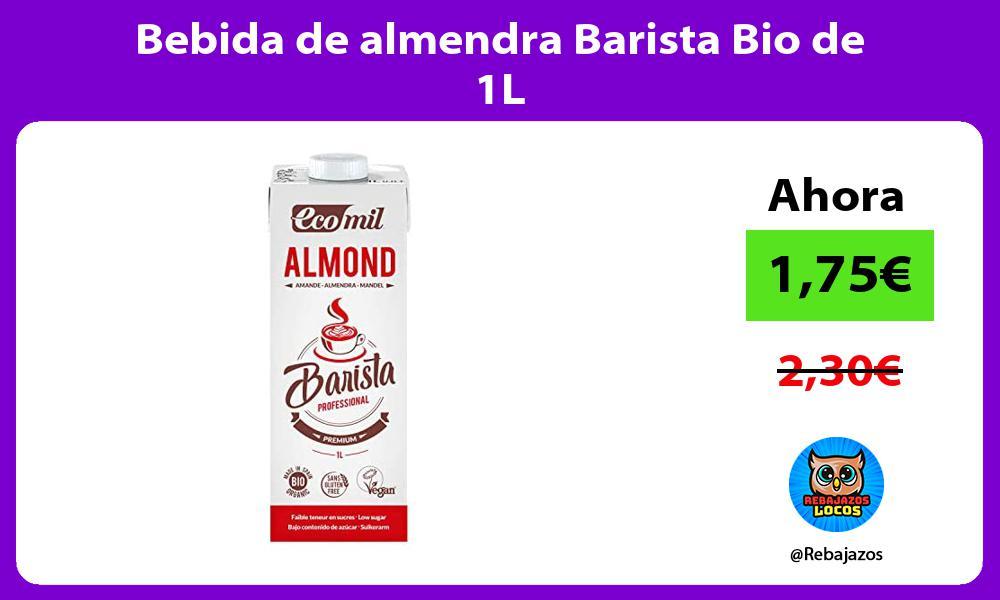 Bebida de almendra Barista Bio de 1L