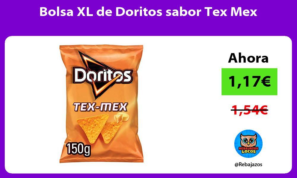 Bolsa XL de Doritos sabor Tex Mex