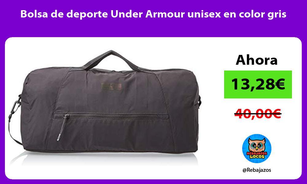 Bolsa de deporte Under Armour unisex en color gris