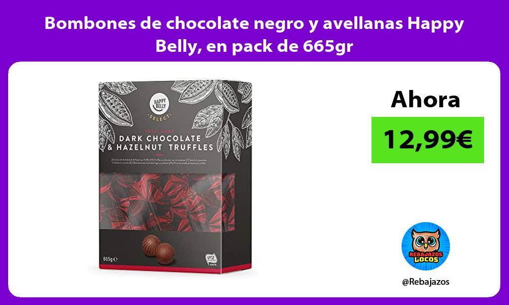 Bombones de chocolate negro y avellanas Happy Belly en pack de 665gr