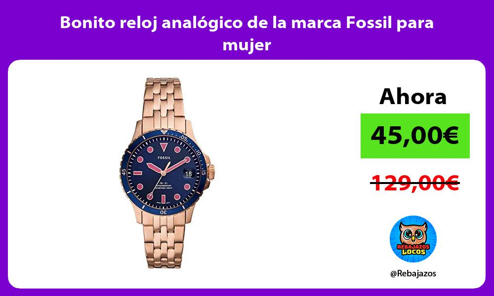 Bonito reloj analogico de la marca Fossil para mujer