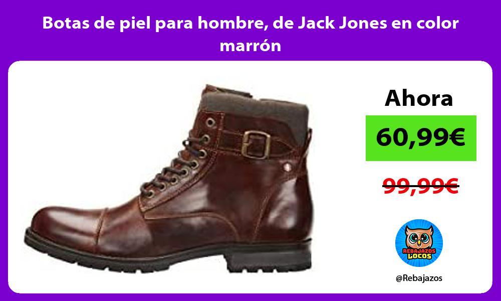 Botas de piel para hombre de Jack Jones en color marron