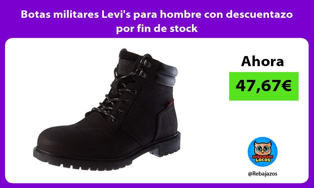 Botas militares Levis para hombre con descuentazo por fin de stock