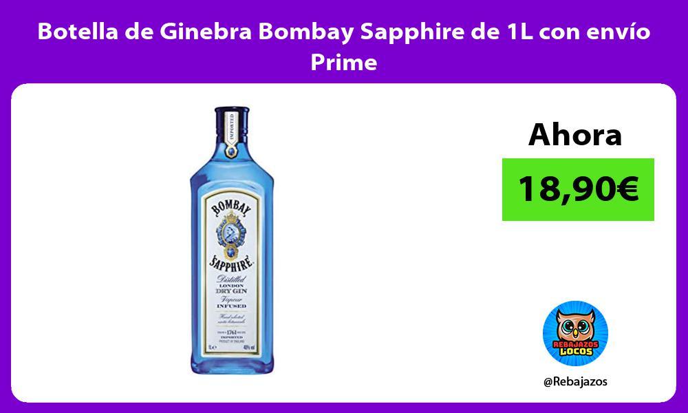 Botella de Ginebra Bombay Sapphire de 1L con envio Prime