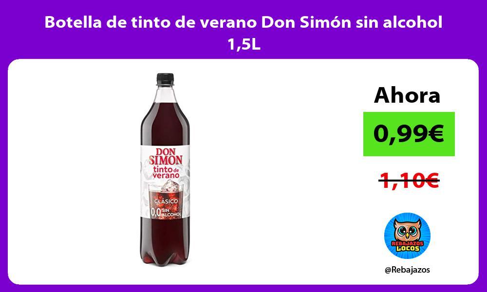 Botella de tinto de verano Don Simon sin alcohol 15L