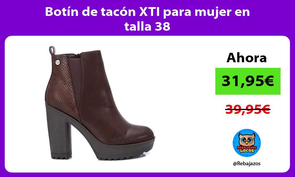 Botin de tacon XTI para mujer en talla 38