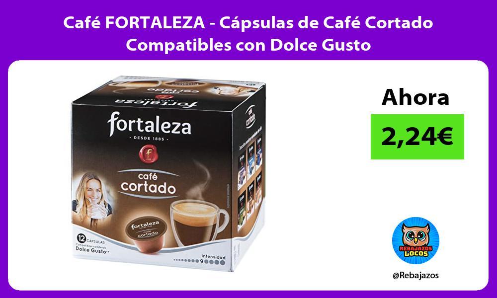 Cafe FORTALEZA Capsulas de Cafe Cortado Compatibles con Dolce Gusto