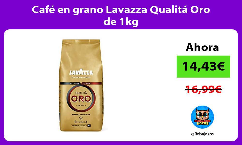 Cafe en grano Lavazza Qualita Oro de 1kg