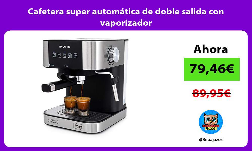 Cafetera super automatica de doble salida con vaporizador