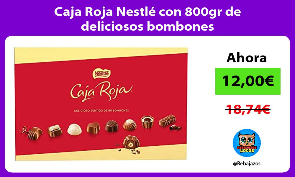 Caja Roja Nestle con 800gr de deliciosos bombones