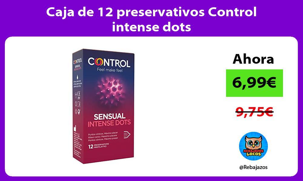 Caja de 12 preservativos Control intense dots