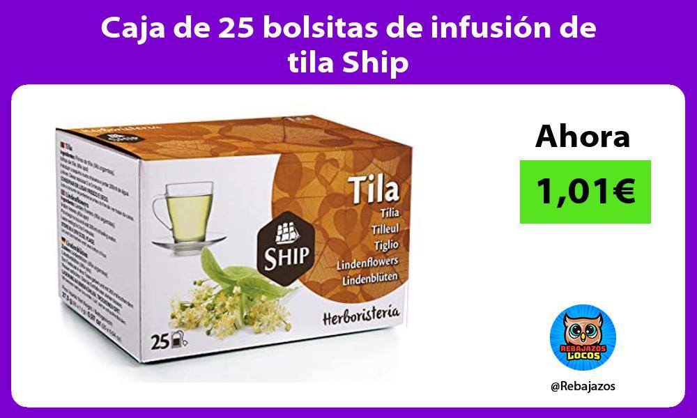 Caja de 25 bolsitas de infusion de tila Ship