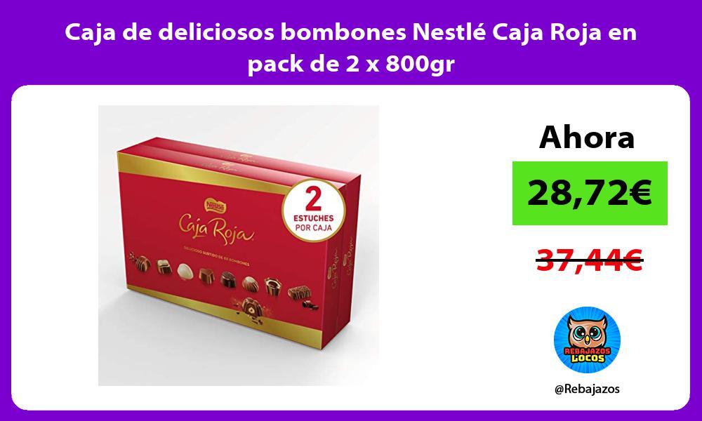 Caja de deliciosos bombones Nestle Caja Roja en pack de 2 x 800gr