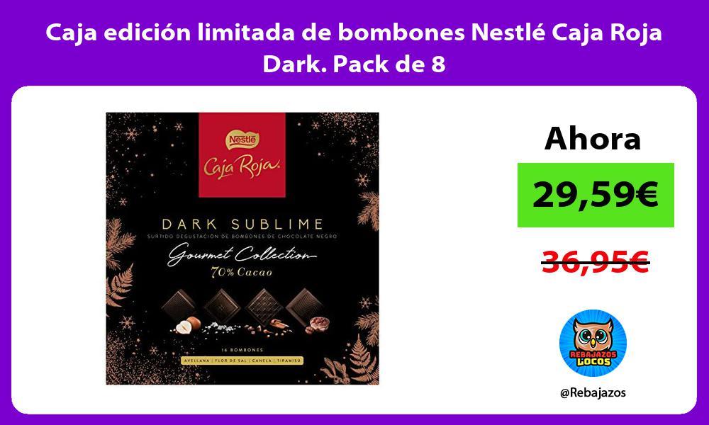 Caja edicion limitada de bombones Nestle Caja Roja Dark Pack de 8