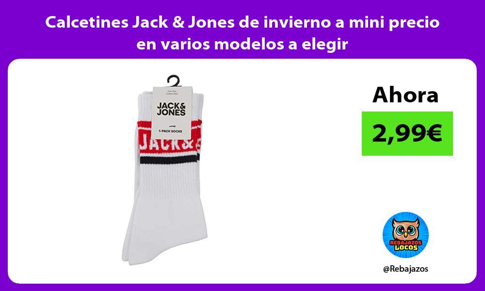 Calcetines Jack Jones de invierno a mini precio en varios modelos a elegir