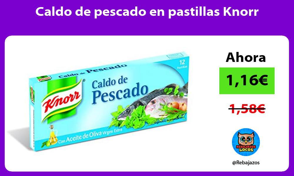 Caldo de pescado en pastillas Knorr