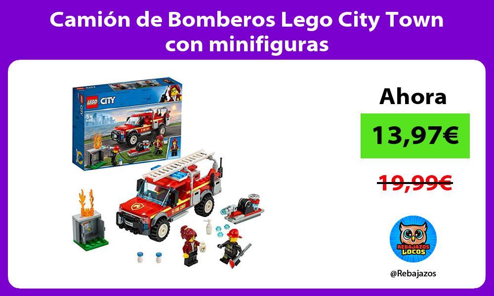 Camion de Bomberos Lego City Town con minifiguras