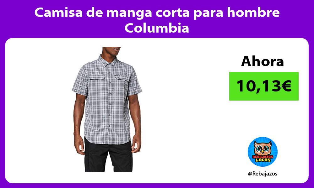 Camisa de manga corta para hombre Columbia