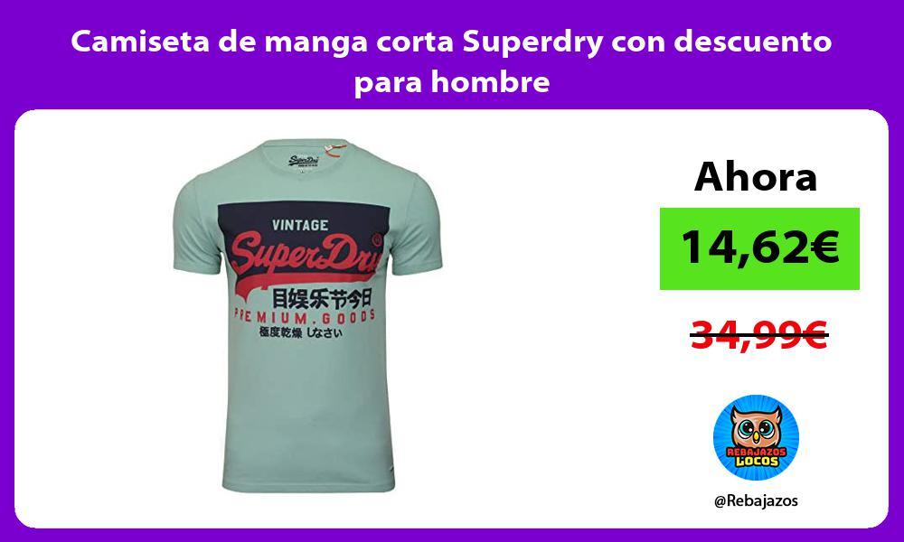 Camiseta de manga corta Superdry con descuento para hombre