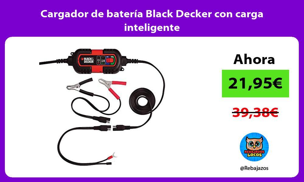 Cargador de bateria Black Decker con carga inteligente