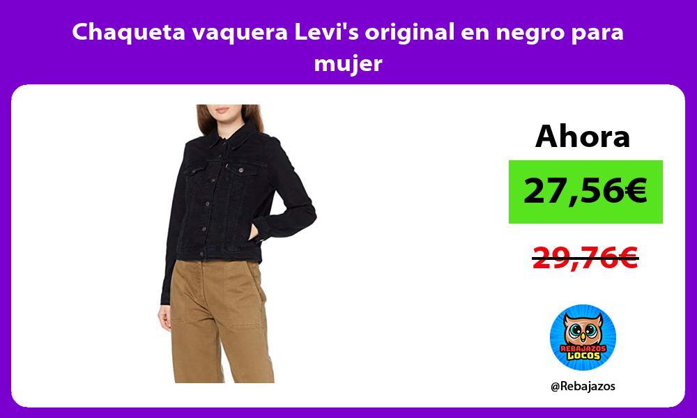 Chaqueta vaquera Levis original en negro para mujer