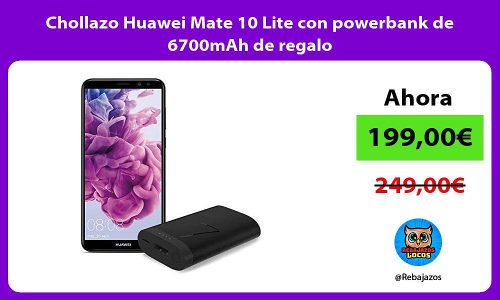 Chollazo Huawei Mate 10 Lite con powerbank de 6700mAh de regalo