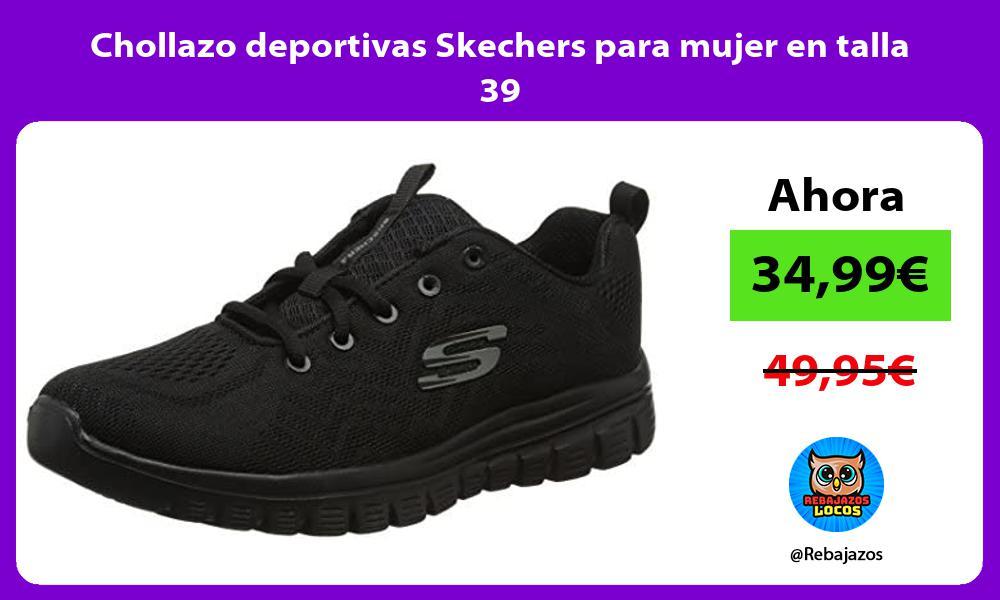 Chollazo deportivas Skechers para mujer en talla 39