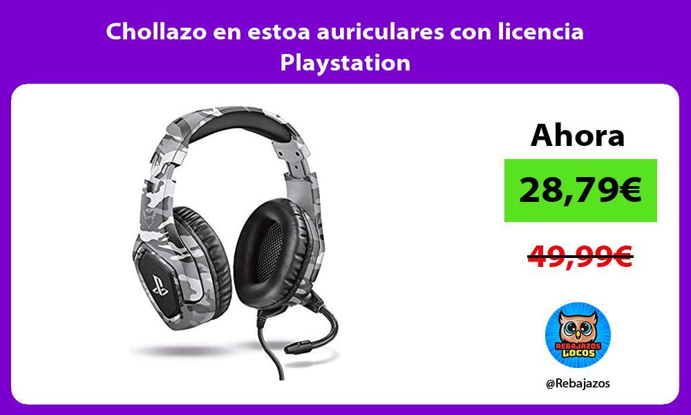 Chollazo en estoa auriculares con licencia Playstation
