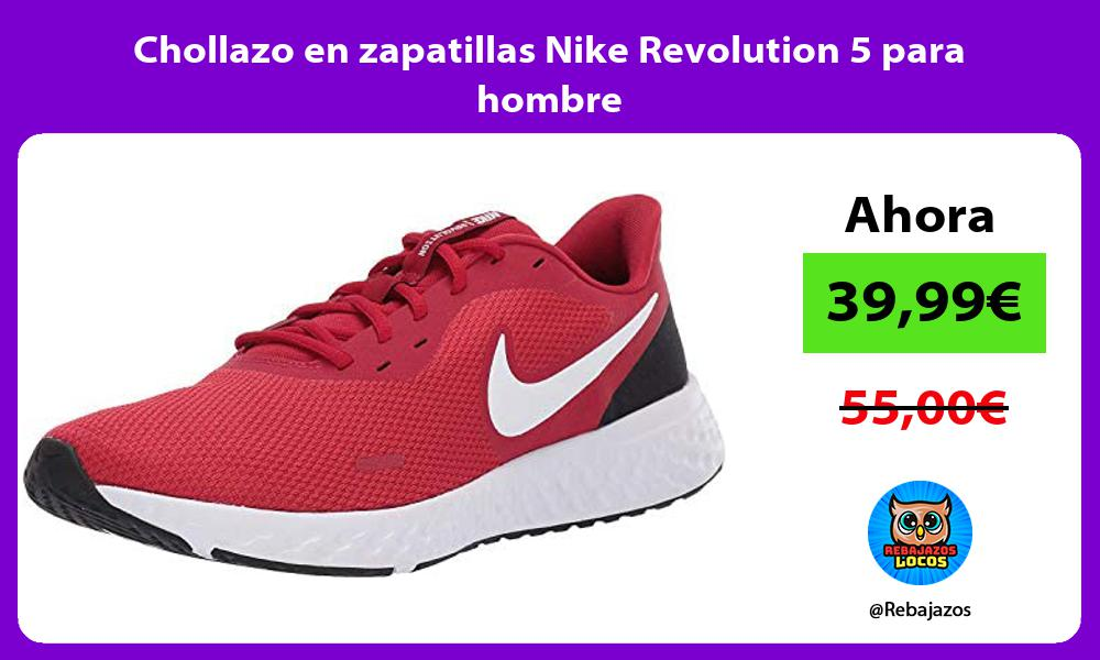 Chollazo en zapatillas Nike Revolution 5 para hombre