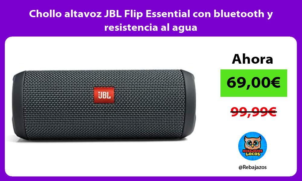Chollo altavoz JBL Flip Essential con bluetooth y resistencia al agua
